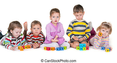 Playing blocks with friends