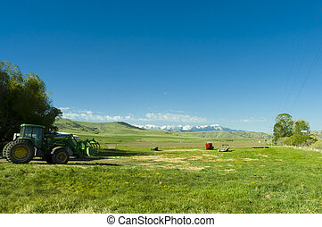 ranch in the mountains of Montana state