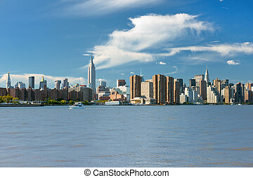 View of NY in the early evening - View of New York in the...