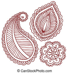 Henna Mehndi Tattoo Doodles Vector