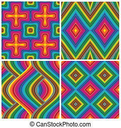 Set of vector art deco pattern