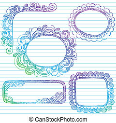 Sketchy Doodle Picture Frame Vector