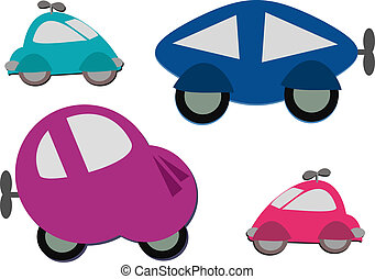 Mix of Cute Wind Up Cars