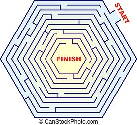 Hexagonal Maze - Labyrinth - A hexagonal maze. Can you get...