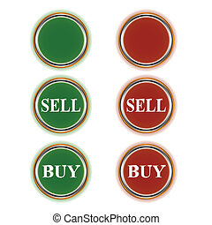 Green and red buttons - Three green and three red buttons...