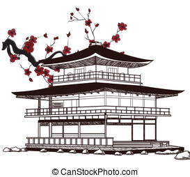 japoneses, pagode
