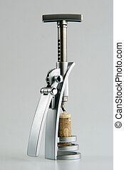 Corkscrew with a cork