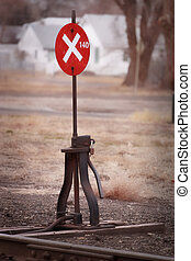 Railroad Sign - Old railroad sign