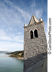 A bell tower, the sea and the sky - Bell tower of San Pietro...