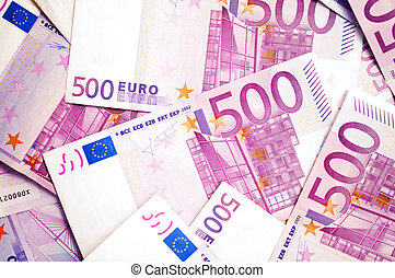 500 Euro money banknotes  background