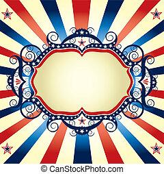 Tricolor US frame