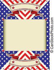 American flag frame background - A poster with a large beige...