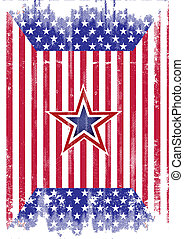 USA flag grunge - A dirty american flag for a background