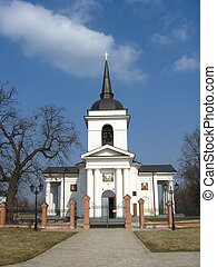 Christian church - Beautiful church on a background of the...