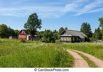 Russian village in summer