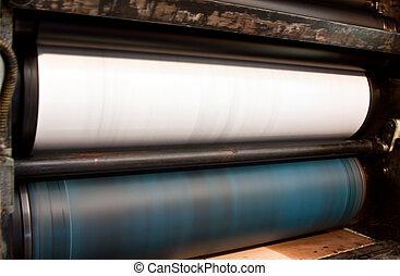 offset printing - offset press - printing detail in print...