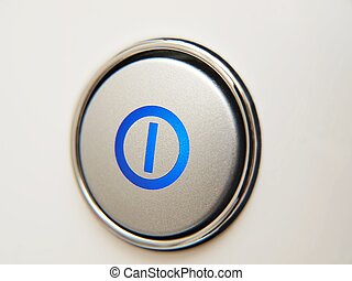 On off button an electronic device, isolated