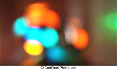 colorful lights at the disco - blurred colorful lights at...