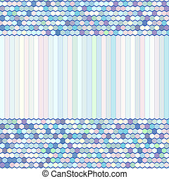Color Comb Background - Abstract Vector Background, Color...