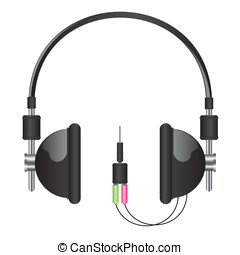 Headphones black illustration