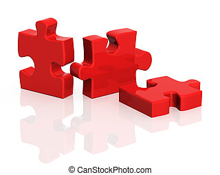 Three parts of a puzzle