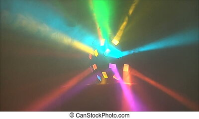 Colorful lights at the disco 4 - Colorful lights at the...