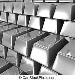 Silver bars Vector illustration