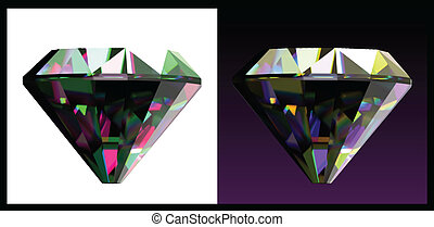 Two of jewelry gems. Vector