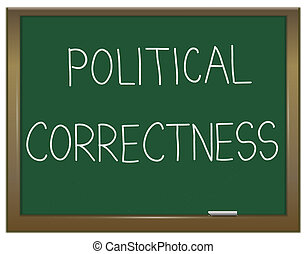 Political correctness concept - Illustration depicting a...