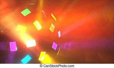 Colorful lights at the disco