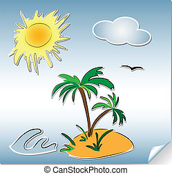 summer holliday - Set summer holliday stikers a paper...
