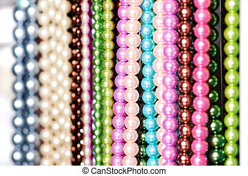 Beads in lines - Bead Strings at a Craft Fair