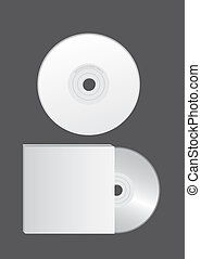 blank cd vector - blank cd over gray background. vector...