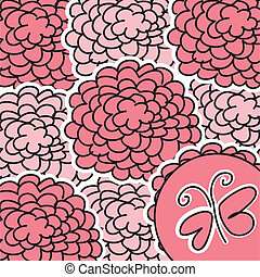cute flowers - pink cute flowers with buttlerfly,...