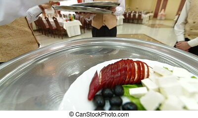 Waiter Serving Reception - Waiter Serving Wedding Reception,...