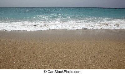 beach - incoming surf on a pristine beach.