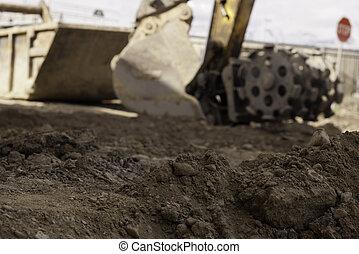 dirt, soil, construction