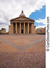 Paris Pantheon Front Overcast