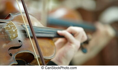 Playing Violin