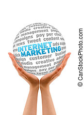 Internet Marketing - Hands holding a Internet Marketing...