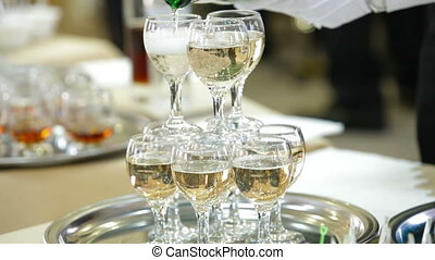 Serving Champagne Reception
