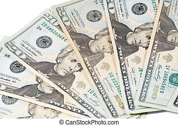 20 Dollar Bills; Cash Currency