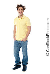 Full length image of a casual young man - Casual young man...