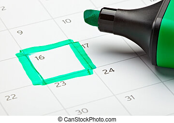 calendar marked important year