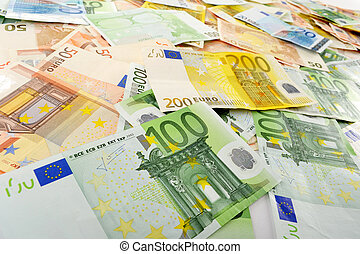Composition with Euro banknotes