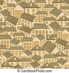 technology vector seamless home town background
