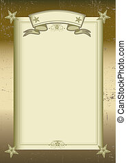 Ancient frame - A backgound for your message or a portrait