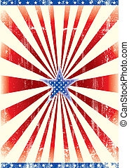 Patriotic star background - A poster of america with a blue...