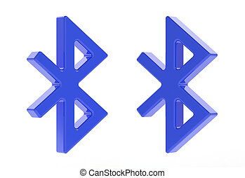 Bluetooth - 3d render of bluetooth icon on white background