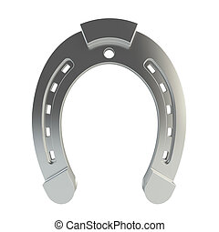 Horseshoe - 3d render of horseshoe on white background